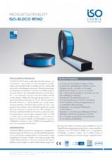 Banda precomprimata multifunctionala special creata pentru renovarea ferestrelor ISO Chemie