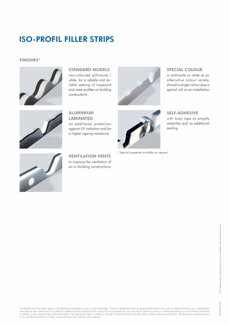 Pagina 2 - Profile din spuma PE  ISO Chemie ISO-PROFIL FILLER STRIPS Fisa tehnica Engleza s B2 ·· ...