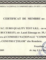 Certificat de membru nr.024