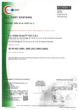 Certificat - Sistemul de Management de Mediu EURO QUALITY TEST