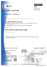 Certificat - Sistemul de Management al Calitatii EURO QUALITY TEST