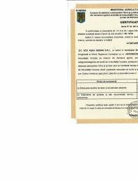 ATESTAT IF Seria Ff nr 621 din 22.10.2019 pentru ECO AQUA DESIGN