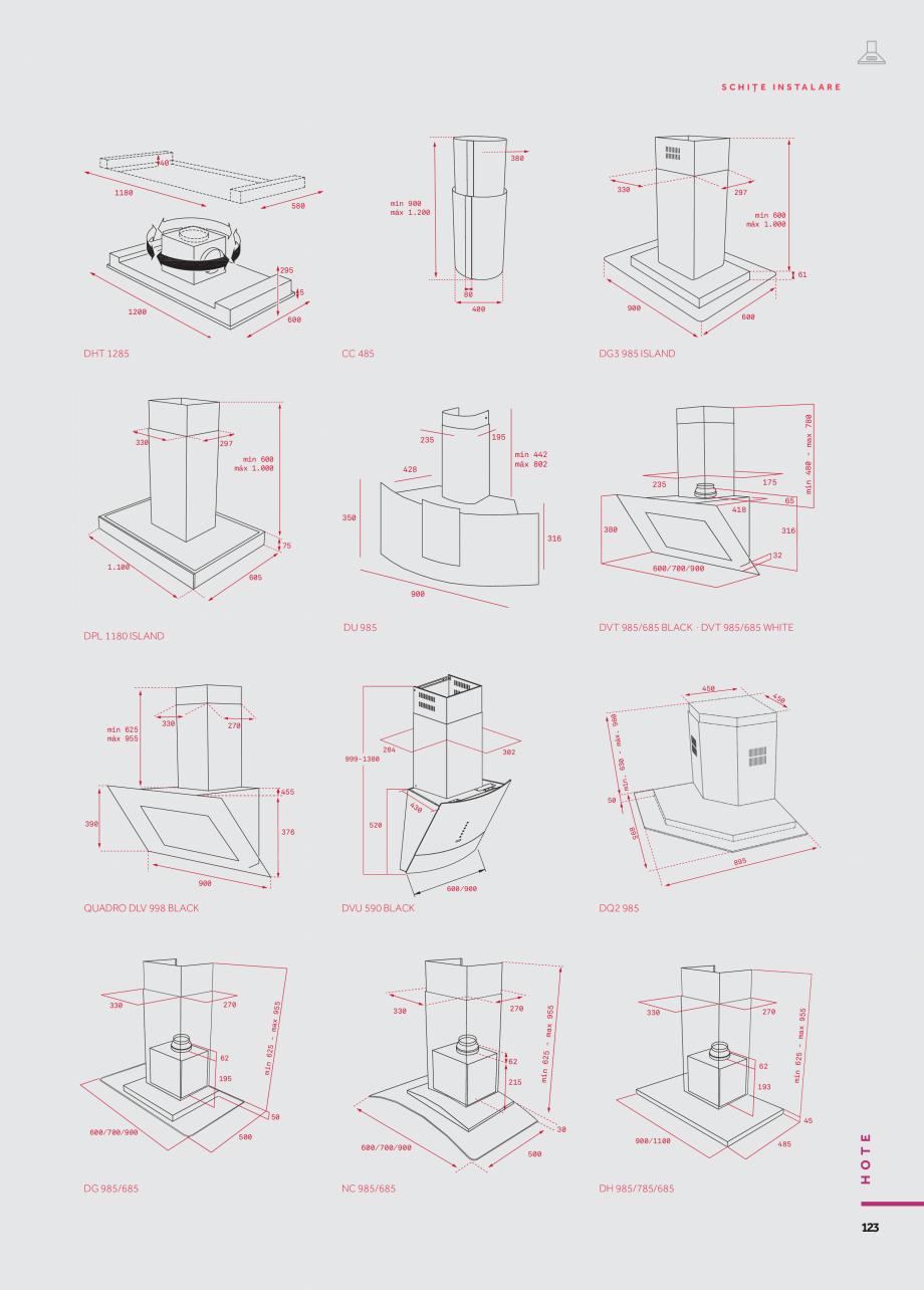 Pagina 30 - Hote insula, verticale, traditionale, telescopice si incorporabile TEKA DHT 1285, DPL...