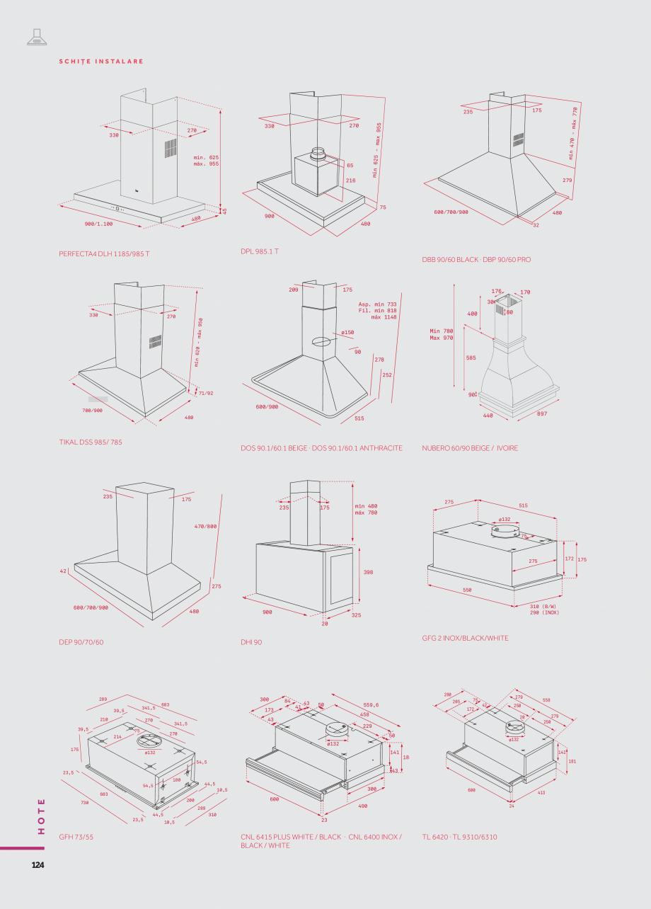 Pagina 31 - Hote insula, verticale, traditionale, telescopice si incorporabile TEKA DHT 1285, DPL...