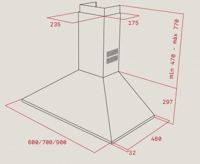 Hota semineu DBP 60 Pro, DBP 90 Pro Dimensiuni