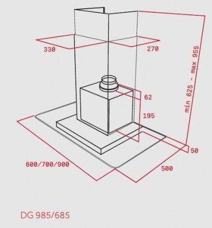 Hota semineu DG 685 Dimensiuni