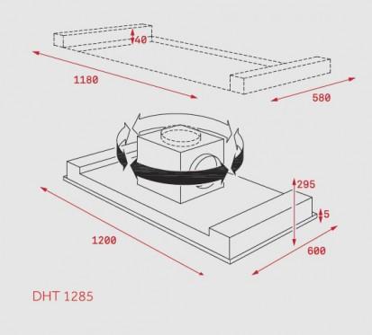 Hota insula integrata in tavan DHT 1285 Dimensiuni