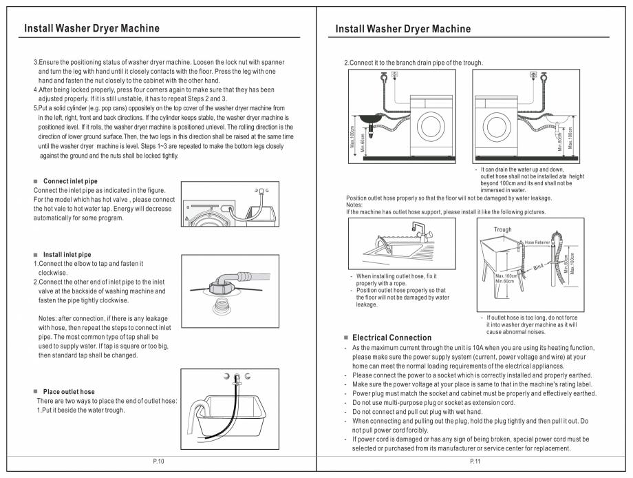 Pagina 6 - Masina de spalat rufe TEKA SPA TKD 1610 WD Instructiuni montaj, utilizare Engleza,...