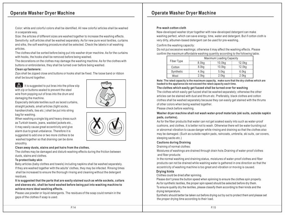 Pagina 8 - Masina de spalat rufe TEKA SPA TKD 1610 WD Instructiuni montaj, utilizare Engleza,...