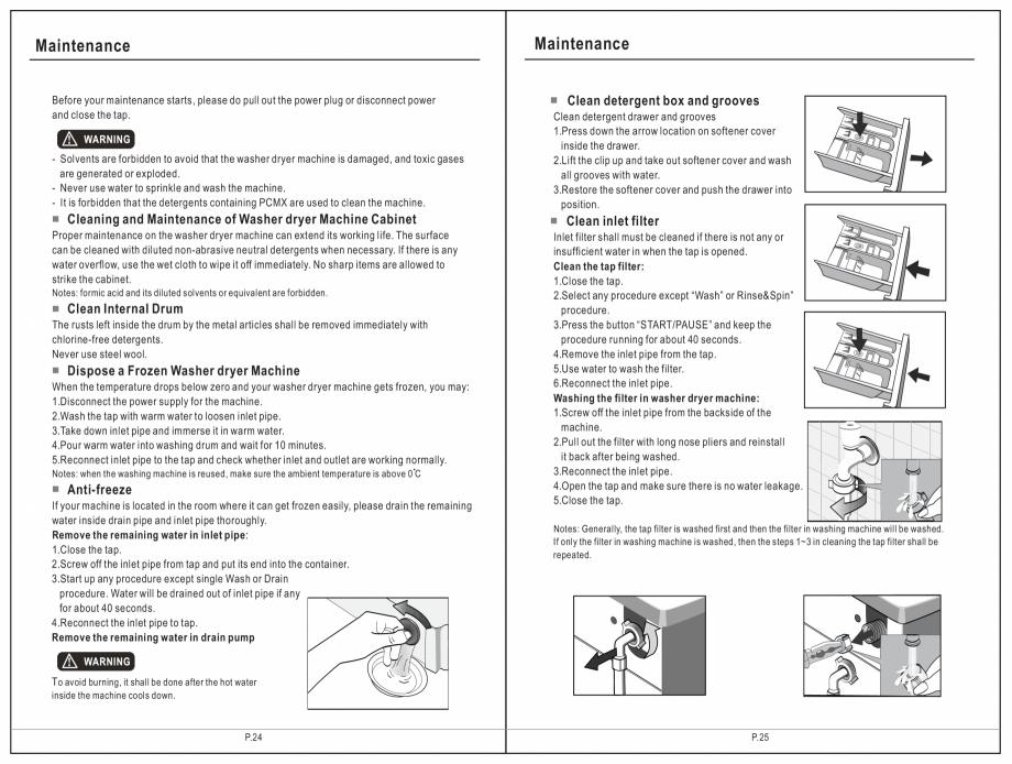 Pagina 13 - Masina de spalat rufe TEKA SPA TKD 1610 WD Instructiuni montaj, utilizare Engleza,...