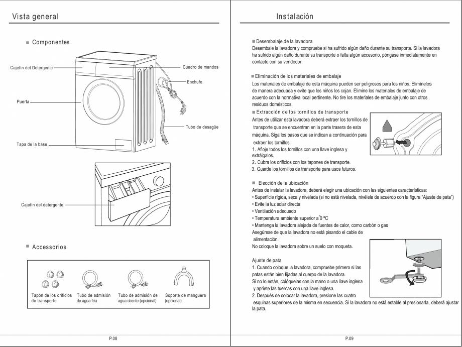 Pagina 20 - Masina de spalat rufe TEKA SPA TKD 1610 WD Instructiuni montaj, utilizare Engleza,...