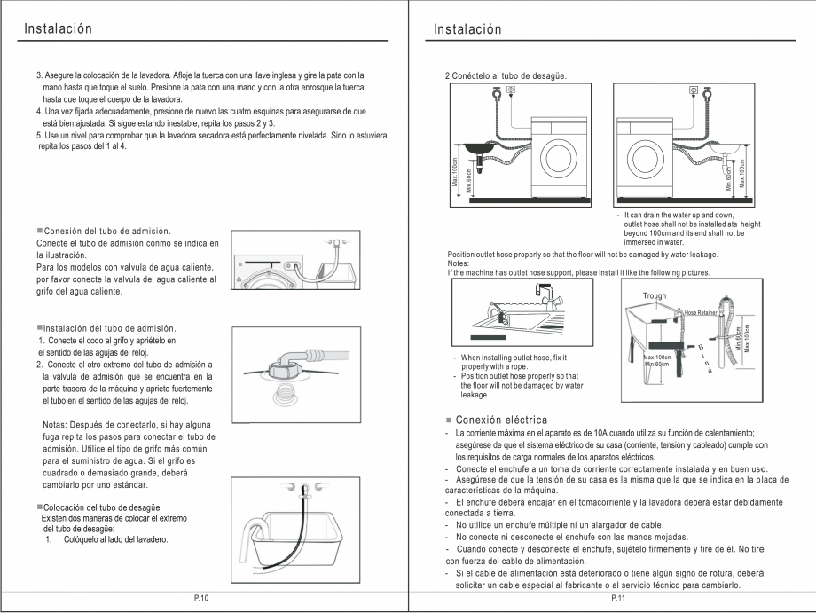 Pagina 21 - Masina de spalat rufe TEKA SPA TKD 1610 WD Instructiuni montaj, utilizare Engleza,...