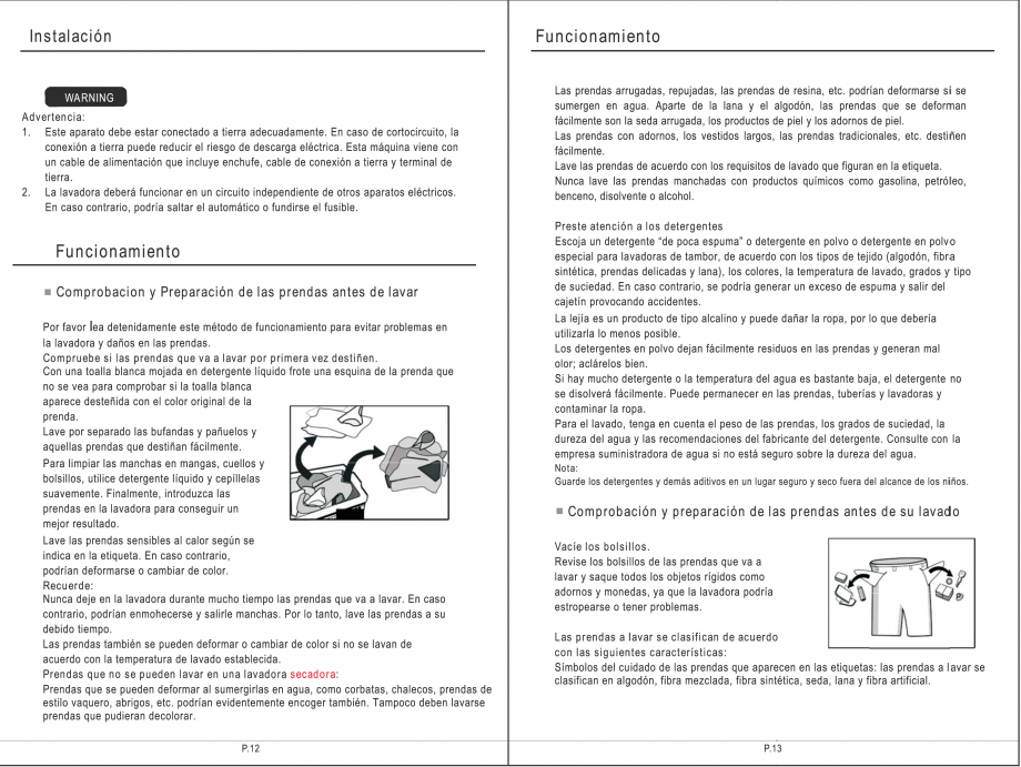 Pagina 22 - Masina de spalat rufe TEKA SPA TKD 1610 WD Instructiuni montaj, utilizare Engleza,...