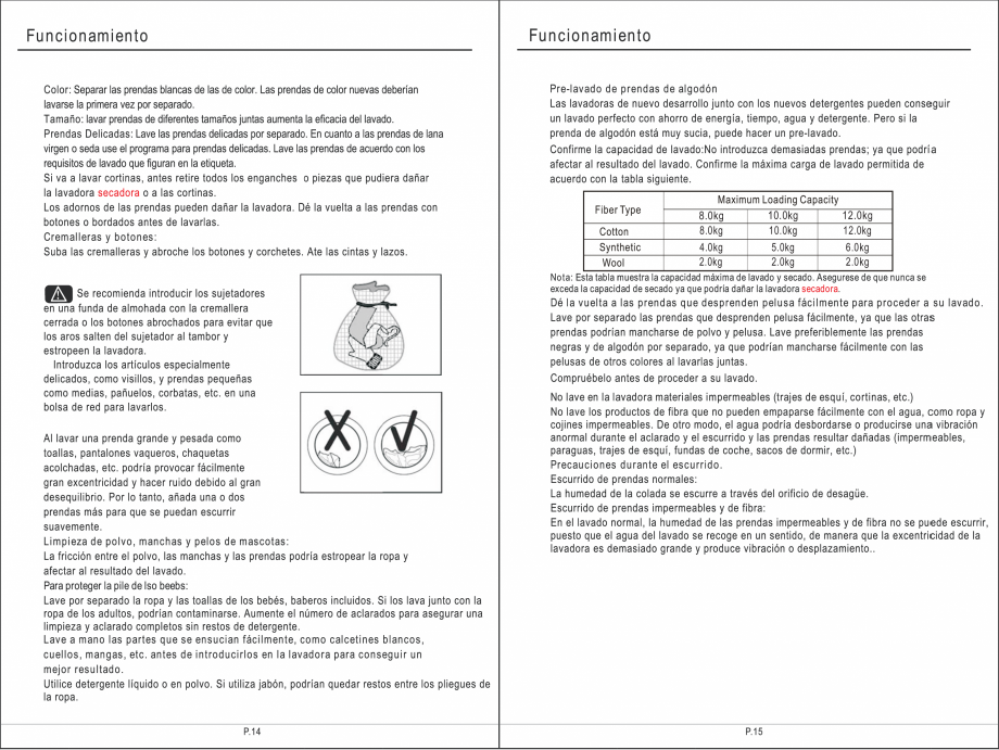 Pagina 23 - Masina de spalat rufe TEKA SPA TKD 1610 WD Instructiuni montaj, utilizare Engleza,...