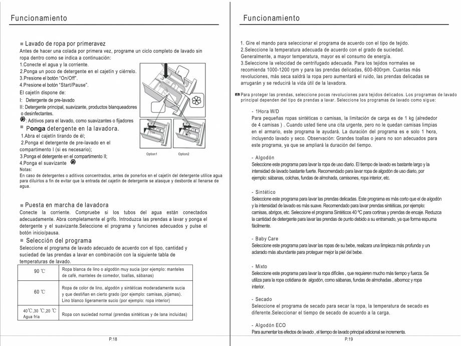 Pagina 25 - Masina de spalat rufe TEKA SPA TKD 1610 WD Instructiuni montaj, utilizare Engleza,...