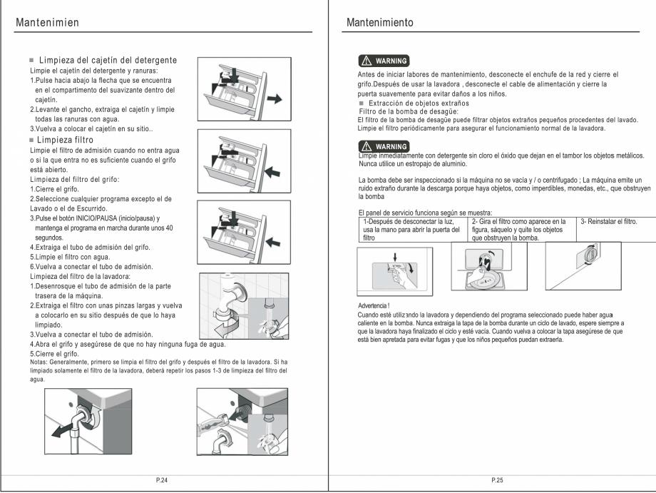 Pagina 28 - Masina de spalat rufe TEKA SPA TKD 1610 WD Instructiuni montaj, utilizare Engleza,...