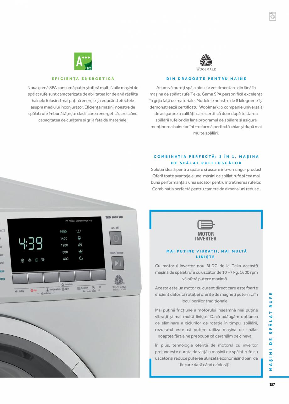 Pagina 4 - Masini de spalat TEKA HOT SPRING TK4 1270 INOX, LI3 1470 E, LSI4 1470 E, SPA TKD 1270...