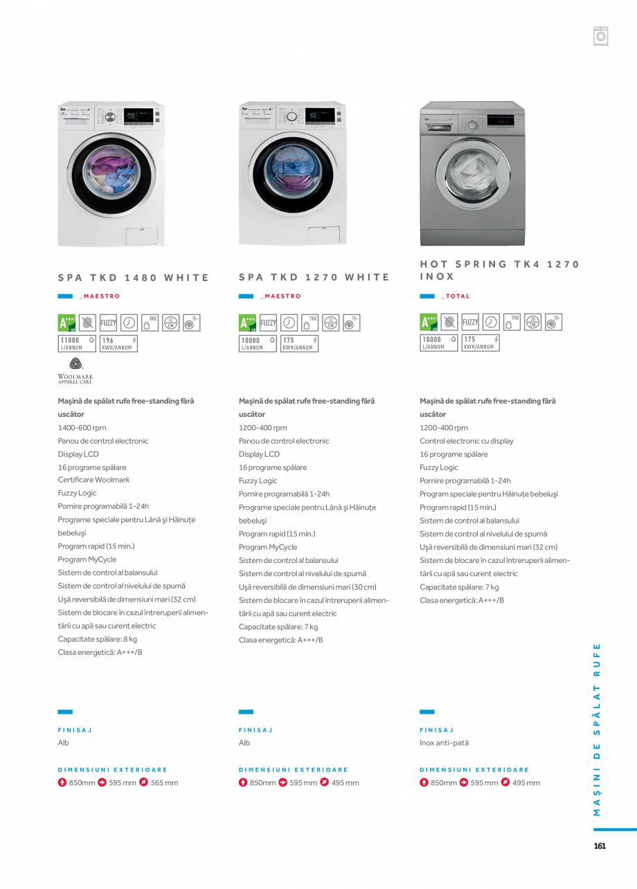 Pagina 8 - Masini de spalat TEKA HOT SPRING TK4 1270 INOX, LI3 1470 E, LSI4 1470 E, SPA TKD 1270...