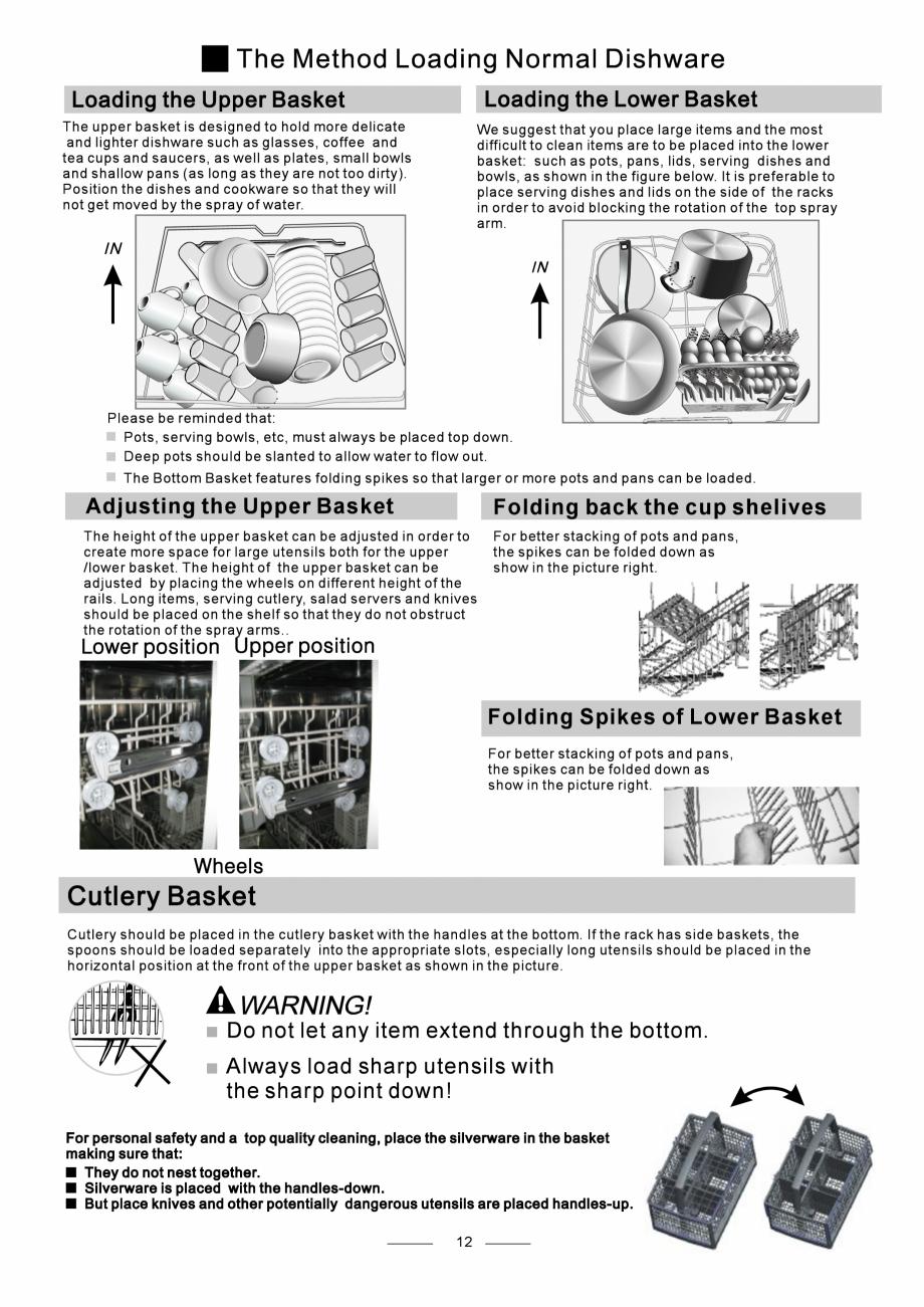 Pagina 14 - Masina de spalat vase TEKA DW8 55 FI Instructiuni montaj, utilizare Engleza