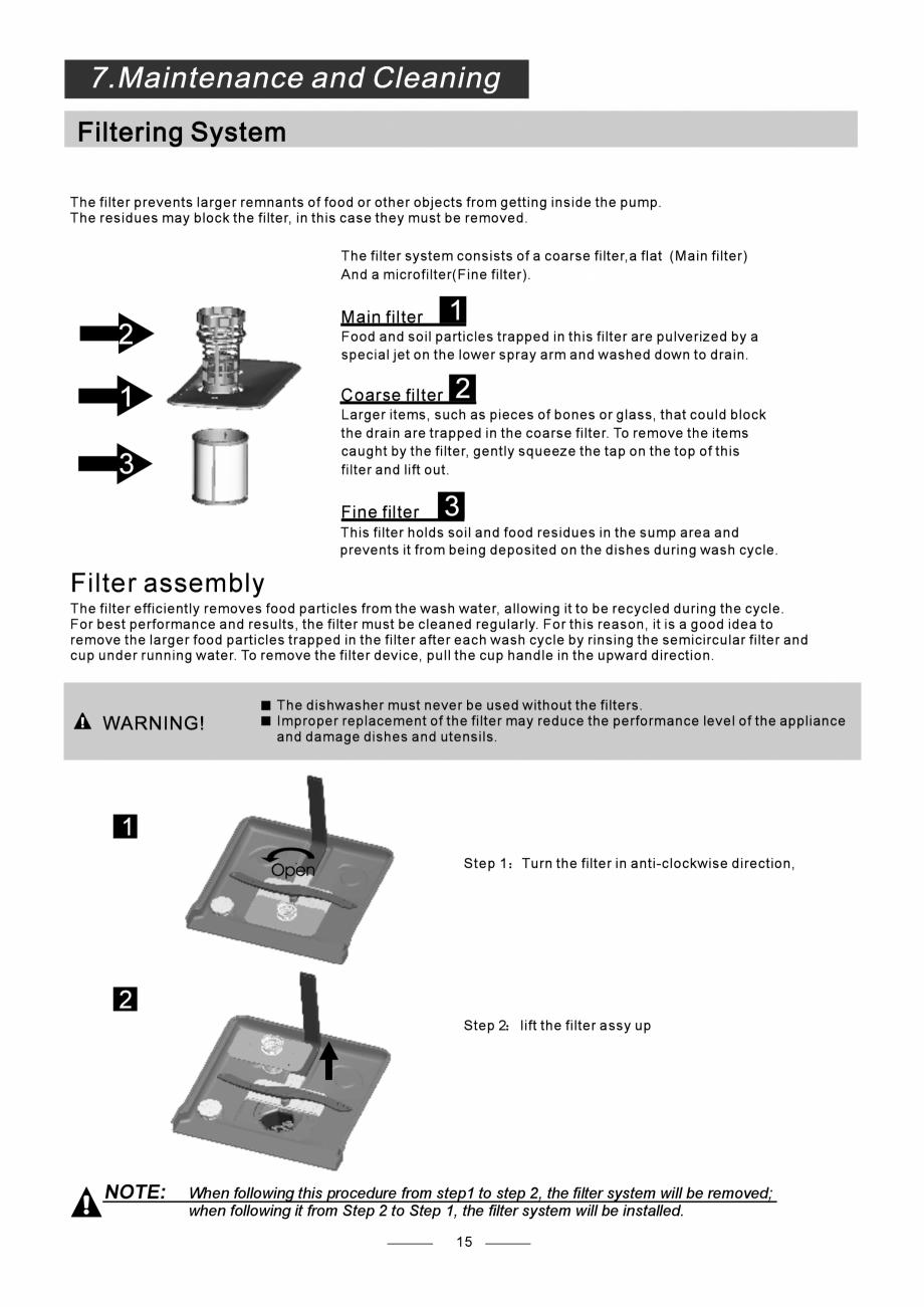 Pagina 17 - Masina de spalat vase TEKA DW8 55 FI Instructiuni montaj, utilizare Engleza