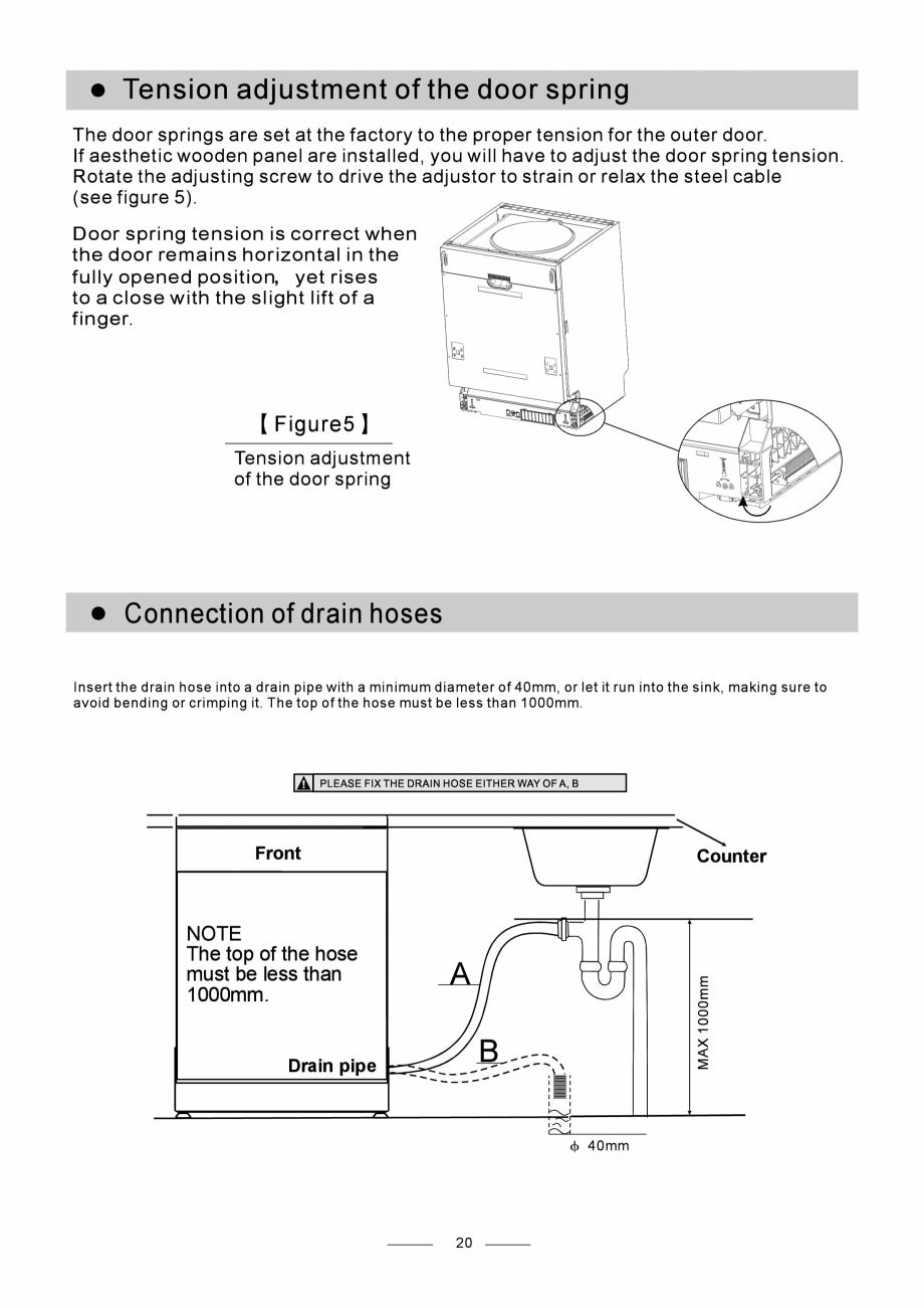 Pagina 22 - Masina de spalat vase TEKA DW8 55 FI Instructiuni montaj, utilizare Engleza