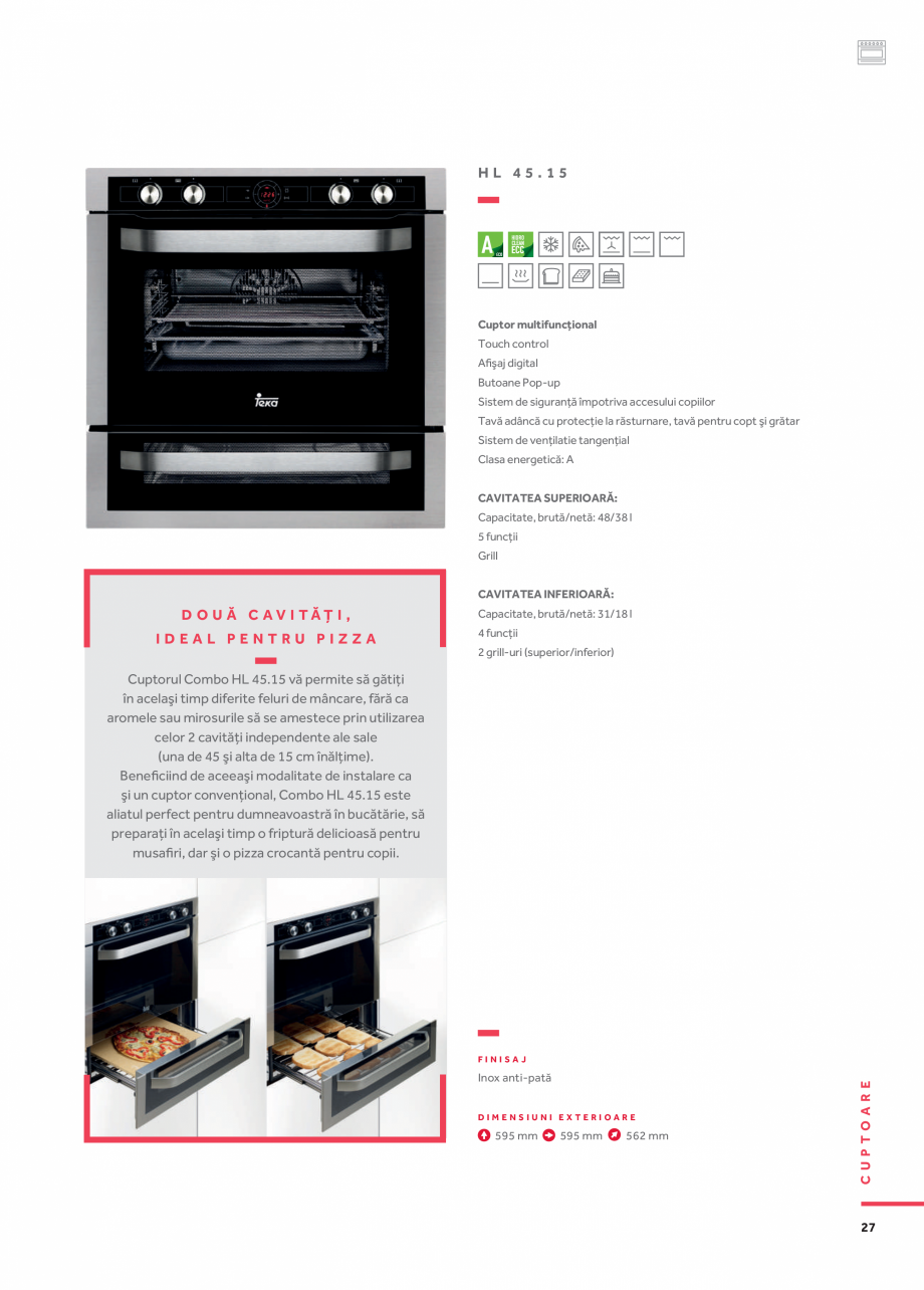 Pagina 18 - Cuptoare compacte, cu aburi TEKA CLC 855 GM, CP 15 GS, HLC 844 C, HLC 860 P, ML 822 BIS ...