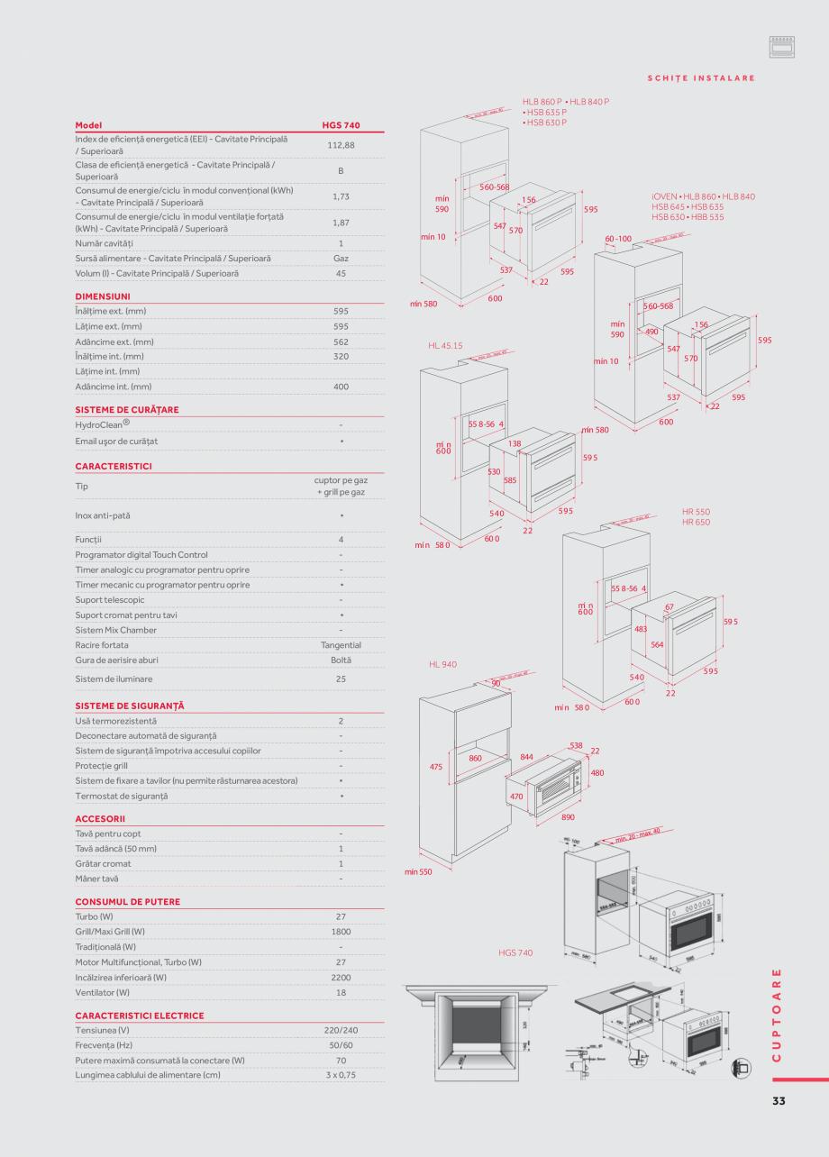 Pagina 24 - Cuptoare compacte, cu aburi TEKA CLC 855 GM, CP 15 GS, HLC 844 C, HLC 860 P, ML 822 BIS ...