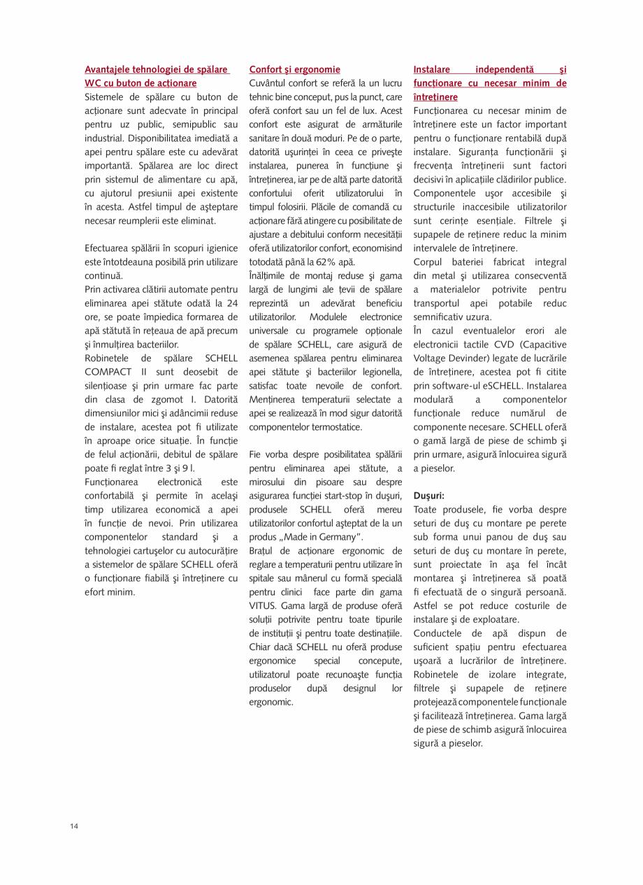 Pagina 16 - Schell - Catalog general - 2020-2021  Catalog, brosura Romana .13  03 326 06 99  3.12 ...