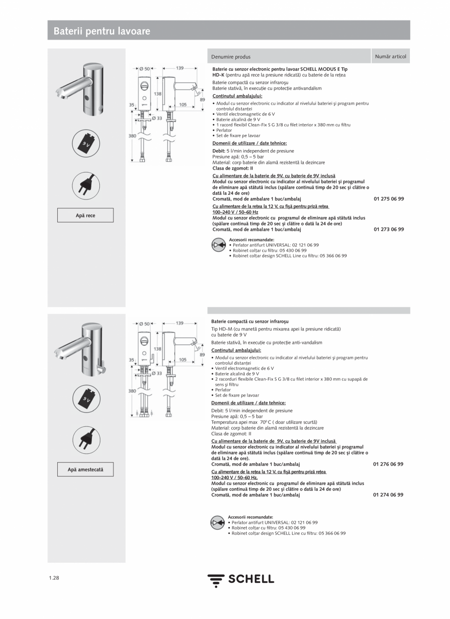 "Pagina 46 - Schell - Catalog general - 2020-2021  Catalog, brosura Romana de in Germany"". Braţul ..."