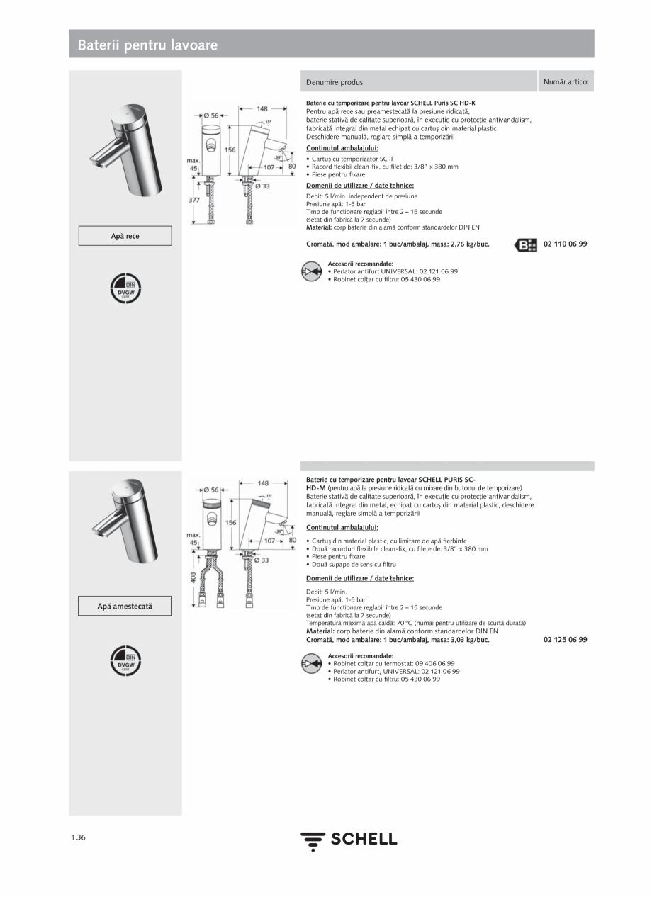 Pagina 54 - Schell - Catalog general - 2020-2021  Catalog, brosura Romana � a cablurilor nu trebuie ...