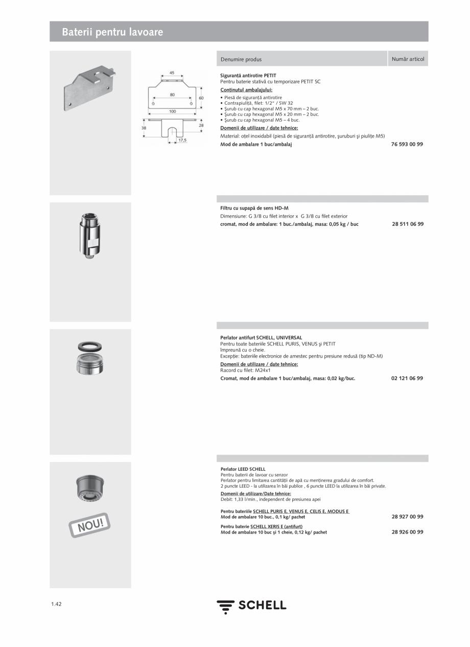 Pagina 60 - Schell - Catalog general - 2020-2021  Catalog, brosura Romana  + A1:2010; DIN EN...