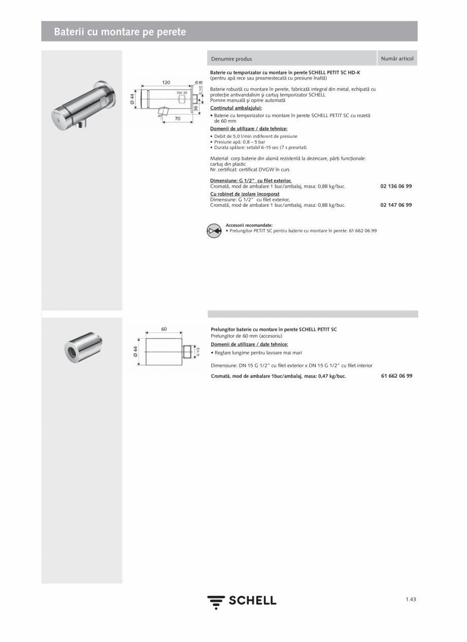 Pagina 61 - Schell - Catalog general - 2020-2021  Catalog, brosura Romana  EN 60715) • bloc...
