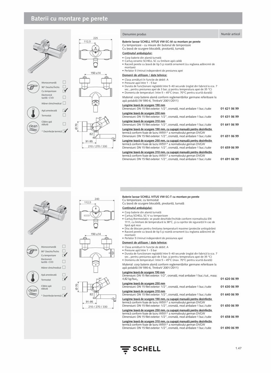 Pagina 65 - Schell - Catalog general - 2020-2021  Catalog, brosura Romana  515 00 99  Instrucţiuni ...