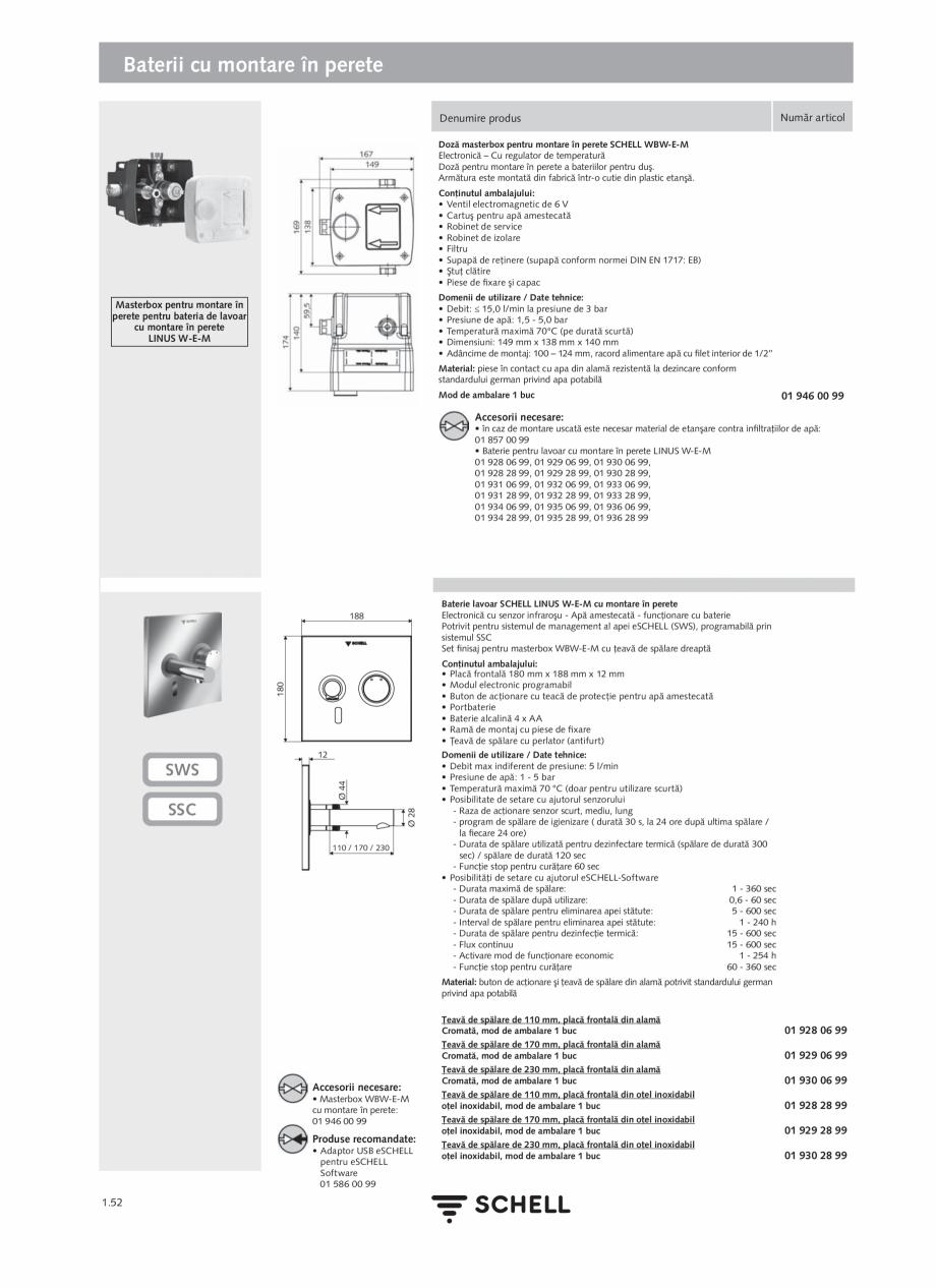 Pagina 70 - Schell - Catalog general - 2020-2021  Catalog, brosura Romana  de date, Mod ambalare: 1 ...