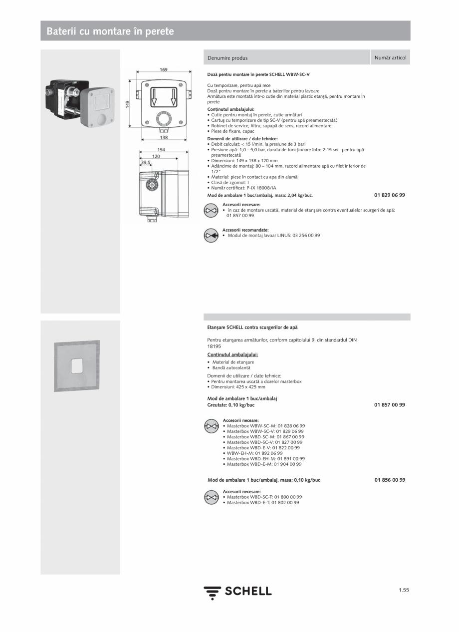 Pagina 73 - Schell - Catalog general - 2020-2021  Catalog, brosura Romana fără schimbare hardware....