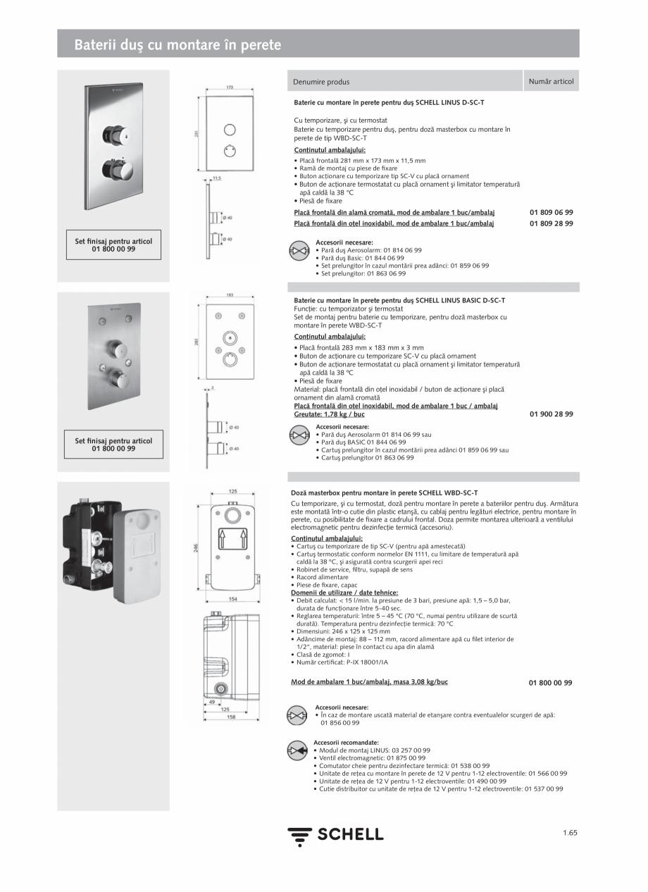 Pagina 83 - Schell - Catalog general - 2020-2021  Catalog, brosura Romana Date tehnice: • Senzor...