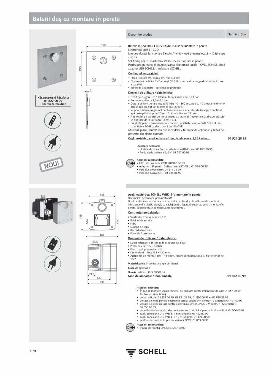 Pagina 88 - Schell - Catalog general - 2020-2021  Catalog, brosura Romana �ndrumar de utilizare, şi...
