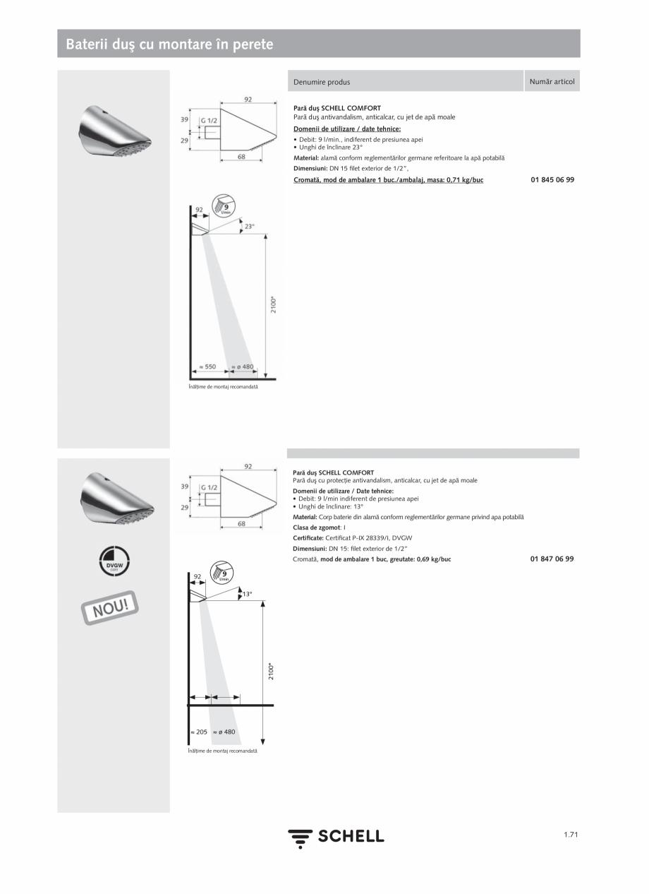 Pagina 89 - Schell - Catalog general - 2020-2021  Catalog, brosura Romana  Accesorii recomandate:...