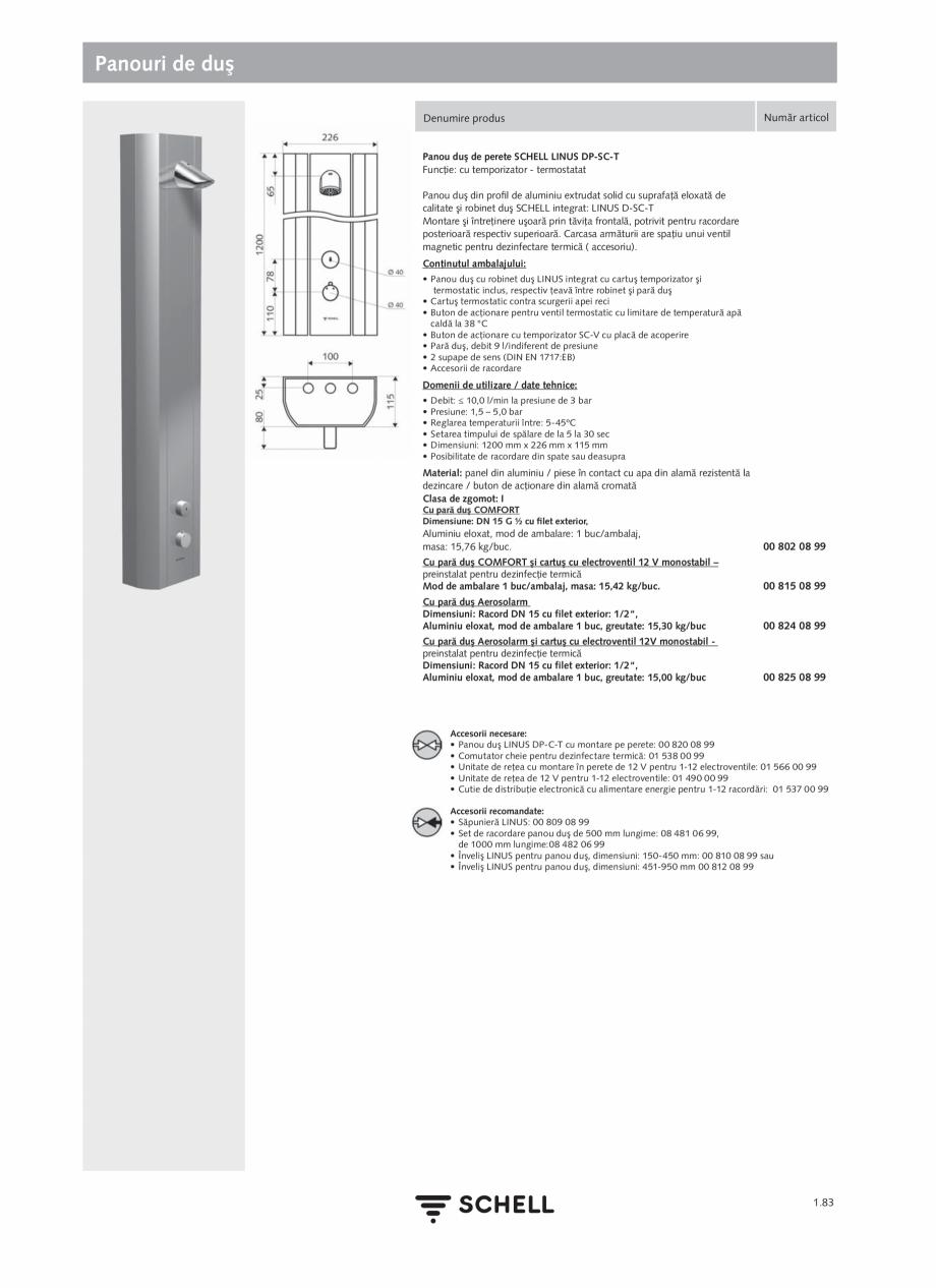 Pagina 101 - Schell - Catalog general - 2020-2021  Catalog, brosura Romana a presiunii PBV 06 558 12...