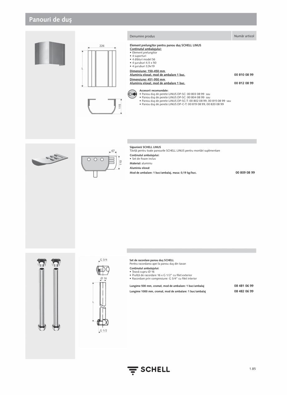 Pagina 103 - Schell - Catalog general - 2020-2021  Catalog, brosura Romana  Cu unitate de alimentare...