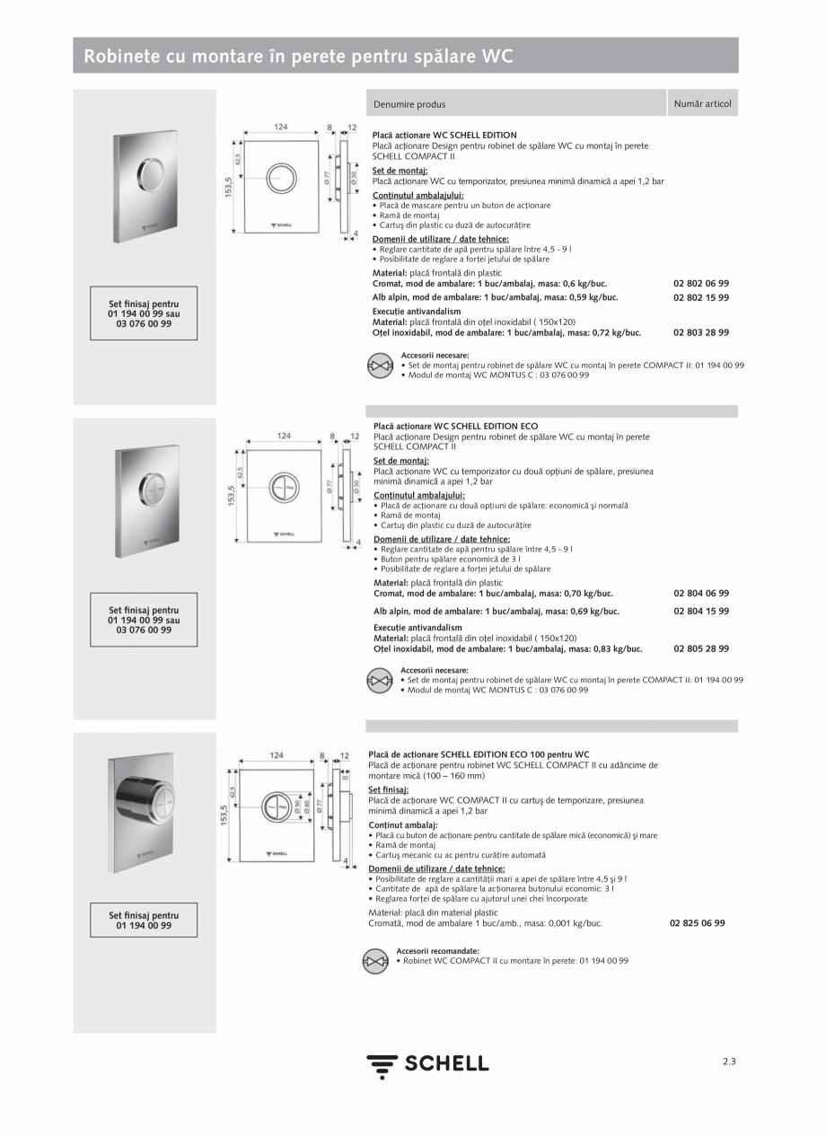 Pagina 107 - Schell - Catalog general - 2020-2021  Catalog, brosura Romana entru dezinfecţie...
