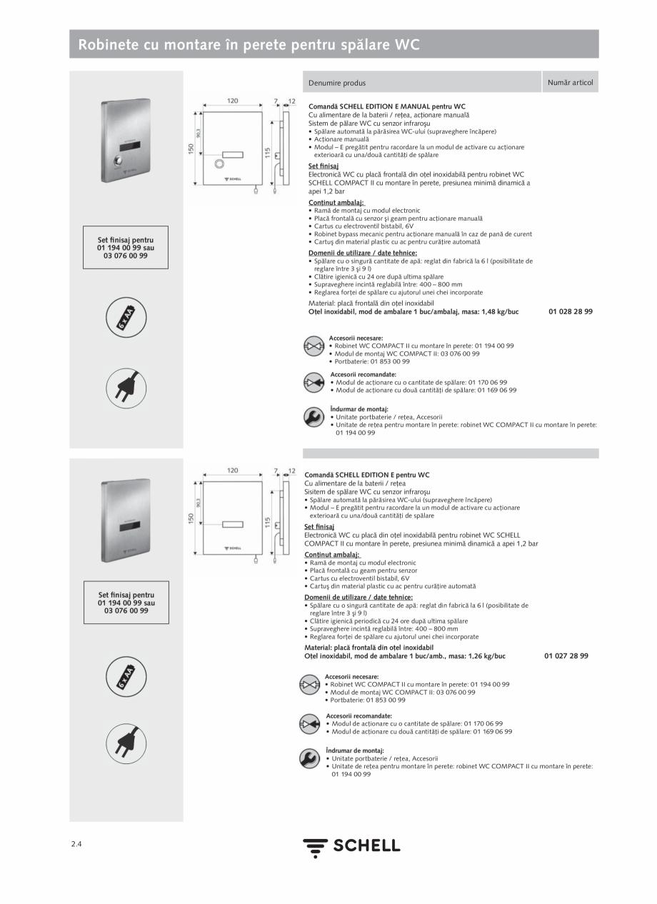 Pagina 108 - Schell - Catalog general - 2020-2021  Catalog, brosura Romana mbalajului: • Baterie...