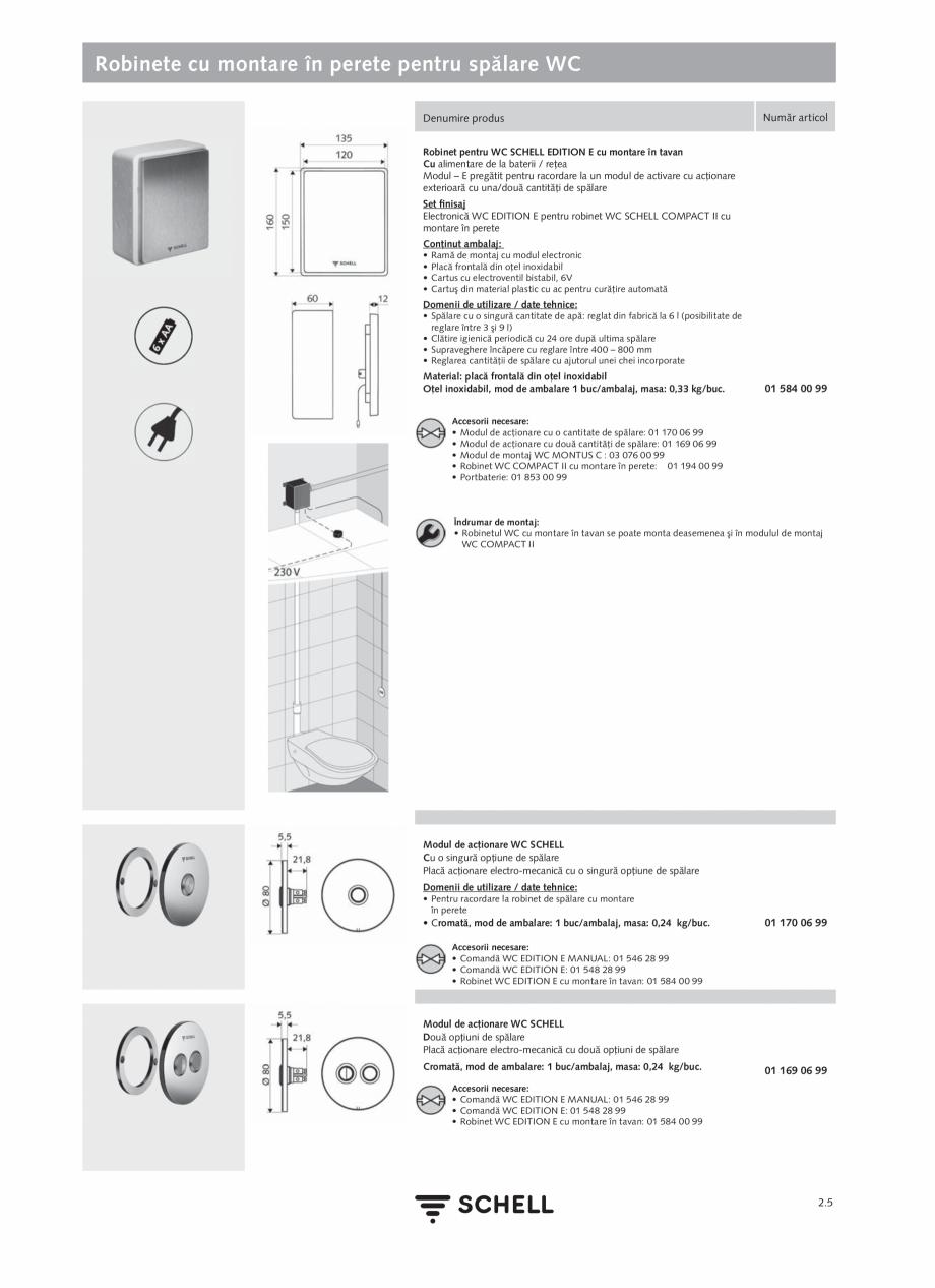 Pagina 109 - Schell - Catalog general - 2020-2021  Catalog, brosura Romana curăţare 60 sec •...