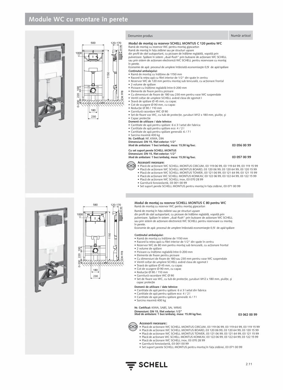 Pagina 115 - Schell - Catalog general - 2020-2021  Catalog, brosura Romana  • Piese pentru fixare ...