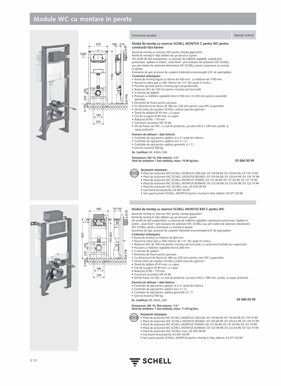 Pagina 116 - Schell - Catalog general - 2020-2021  Catalog, brosura Romana re 60 - 360 sec  SWS SSC ...