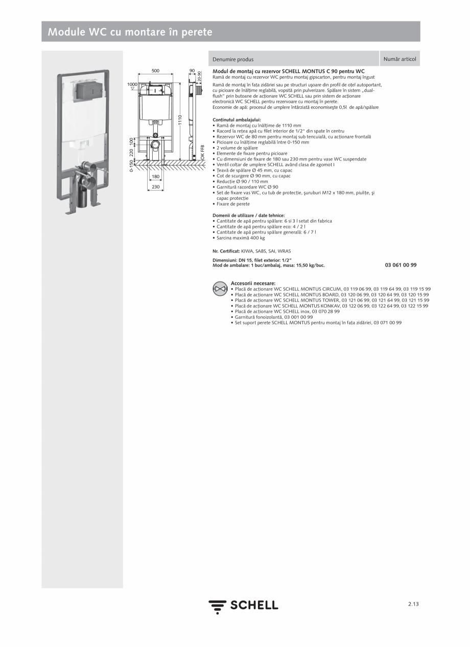 Pagina 117 - Schell - Catalog general - 2020-2021  Catalog, brosura Romana e racordare (350 mm...