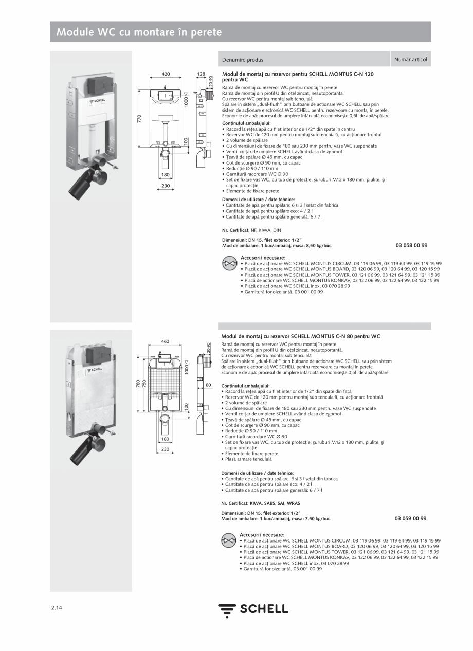 Pagina 118 - Schell - Catalog general - 2020-2021  Catalog, brosura Romana spălare după utilizare:...