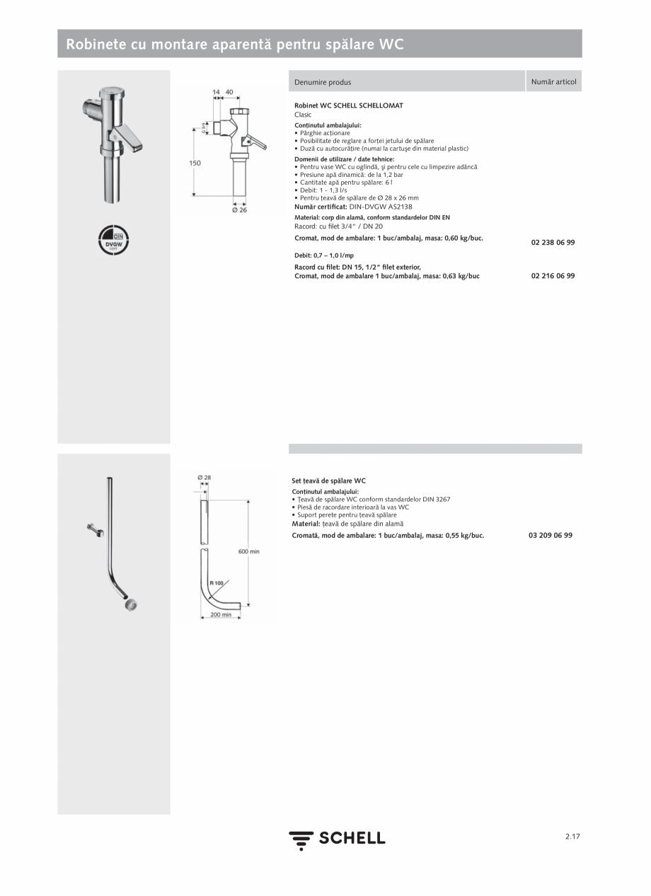 Pagina 121 - Schell - Catalog general - 2020-2021  Catalog, brosura Romana 9 • Robinet colţar...