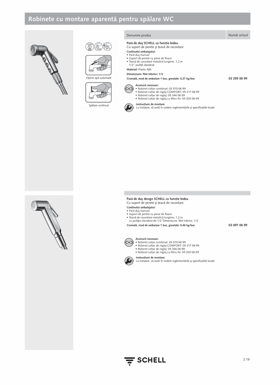 Pagina 123 - Schell - Catalog general - 2020-2021  Catalog, brosura Romana zistentă la dezincare...