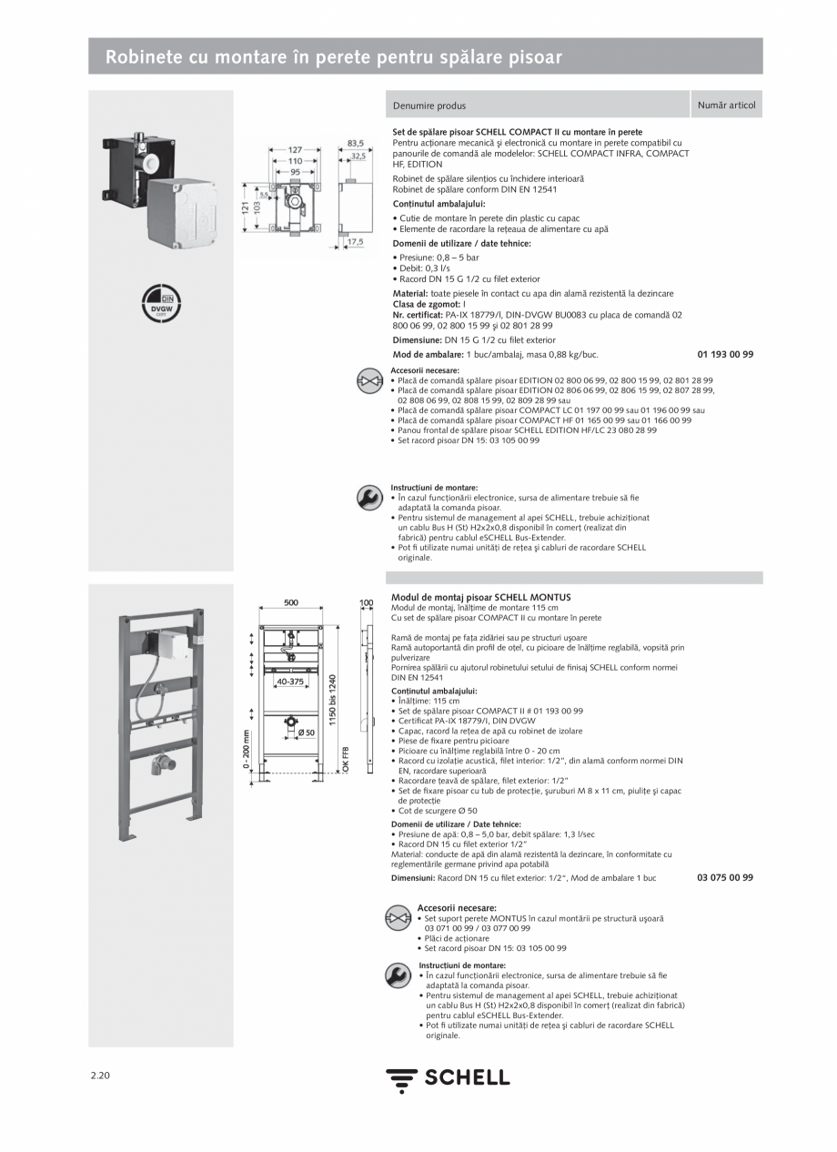 Pagina 124 - Schell - Catalog general - 2020-2021  Catalog, brosura Romana rtbaterie extern cu...